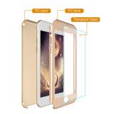 iPhone 7のケース360の完全なパソコンの緩和されたガラスの保護装置とのiPhone 7の細いハイブリッド保護電話箱のため