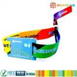사건 관리 NTAG213 축제 직물에 의하여 길쌈되는 RFID 소맷동