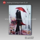 도매 고품질 애인 Handpainting 현대 벽 예술 장식적인 다채로운 사랑 유화 화포