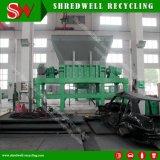 Triturador de ferrugem industrial duplo para reciclagem de resíduos de carros / tambores de metal