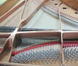 Instrumentos musicais Piano de Cauda Branca (GP-212) Schumann Piano Self-Playing
