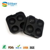 Negro flexible de silicona de hielo Bola de esferas del fabricante del molde