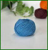 Gefärbtes Jutefaser-Garn (blau) für die Gestaltungsarbeits-Herstellung