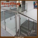Barandilla del acero inoxidable del vidrio Tempered del claro de la alta calidad (SJ-H1500)