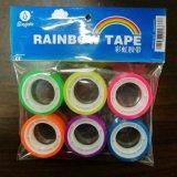 6 farbiges Rolls-Regenbogen-Band im Aufhängungs-Beutel