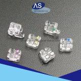 Parentesi di ceramica dello zaffiro come-Ortodontico con la parentesi libera