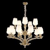 Lustre de ferro novo design com acabamento de iluminação de vidro para casa (SL2276-8)