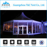 Tent van uitstekende kwaliteit van het Huwelijk van de Tweede Hand de Hexagonale met de Muur van het Glas voor Gebeurtenissen