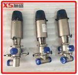 válvulas sanitárias inoxidáveis do SMP-Bc Mixproof do aço Ss304 de 101.6mm com cabeça controlo remoto