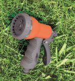 """6개의 패턴 1/2 """" 정원 스프레이어 편리한 그립을%s 가진 조정가능한 플라스틱 물분사 전자총"""