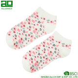 Носки лодыжки хлопка женщин цветка изготовленный на заказ