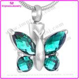 Collana Pendant di cremazione di cristallo della farfalla per il Keepsake delle ceneri (IJD8497)