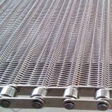 Cinghia della maglia del trasportatore dell'acciaio inossidabile 316