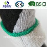 Покрытие нитрила, перчатки работы безопасности отделки Sandy (SL-NS119)