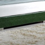 Moderner Entwurfs-hölzernes Bett mit ledernem Deckel-Hotel-Schlafzimmer-Möbel-Wohnzimmer Fb3070