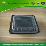 Черный цвет в микроволновой печи пластиковых одноразовых контейнер для упаковки продуктов питания
