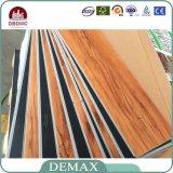 assoalho claro do vinil do PVC da textura da madeira de carvalho de 3mm