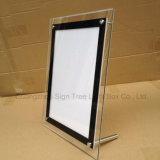 전시를 위한 최고 얇은 A1 수정같은 아크릴 포스터 LED 가벼운 상자
