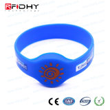 Wristband azul do preço de fábrica RFID na forma do relógio