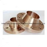 Brides de collet de soudure d'en cuivre d'ajustage de précision de pipe