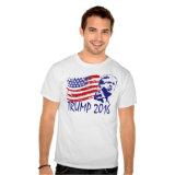 남자의 백색 인쇄된 t-셔츠