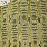 Tissu à motifs géométriques jacquard jaune (FTH31959)