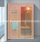 sauna di legno solido di rettangolo di 1350mm per 2 persone (AT-8648)
