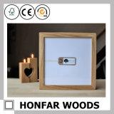 Bâti en bois de photo d'illustration de type américain pour l'appareil de bureau