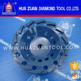 Roda de moagem de diamante de duas filas para azulejos cerâmicos