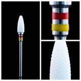 Drill blanc ongles en céramique Bit flamme Bit équipement dentaire