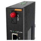8 industriais interruptor portuário da rede Ethernet do gigabit com 1 porta da fibra