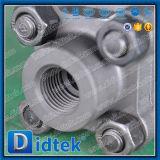 Didtek A105 a modifié l'acier robinet à tournant sphérique fileté par femelle de 3 parties