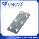 (W521)鋼鉄金属の平らなコーナーは修繕の版の角度Tブラケットを固定する