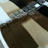Cheveux humains soyeux de Remy de cheveu droit de prolonge brésilienne de luxe de cheveux humains de trame, couleur neuve d'Ombre, cheveu blond de couleur