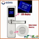 Orbita precio de fábrica Diseño Pantalla LCD de alta seguridad de bloqueo electrónico de madera cerradura de la puerta