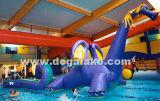 Gioco gonfiabile dell'acqua del drago per il grande raggruppamento di acqua