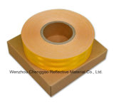 Kundenspezifisches prismatisches gelbes reflektierendes materielles Mikroband für Verkehr (CG5700-OY)