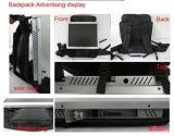 el panel del LCD del morral 17-Inch que hace publicidad del jugador de Viodeo con la señalización de Digitaces de la visualización del LCD del bolso