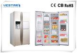 Refrigerador da porta francesa de aço inoxidável com certificação de ETL