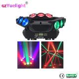 LEIDENE van de Partij 9PCS RGBW van de Disco van het stadium Spin die het HoofdLicht van de Straal bewegen