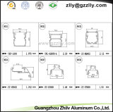 Aluminiumstrangpresßling/Profil-Querschnittsansicht für Wand-Wäsche-Licht und LED-Licht