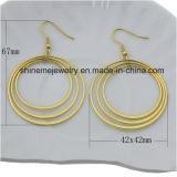 Shineme 보석 최고 가격 스테인리스 도금 금 귀걸이 (ERS6896)