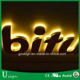 Signage arrière extérieur et d'intérieur d'affaires de publicité de Lit