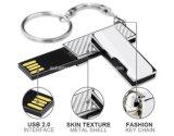 Movimentação chave do flash do USB do giro do metal do USB Pendrive do mini Keyring