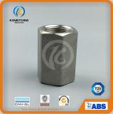 La saldatura dello zoccolo dell'acciaio inossidabile ha filettato l'accoppiamento forgiato accoppiamento Hex (KT0543)