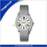 316L acero inoxidable de malla de banda reloj de pulsera de diamantes
