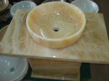 White/Black Marble/Granite Honey Onyx Wash Basin/Wash Bowl/Sink 왕 Pure