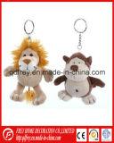 Jouet chaud de trousseau de clés de cadeau de singe de peluche de vente