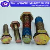 Befestigungsteil-Hersteller-Zink-Gelb überzogene Hex Schraube