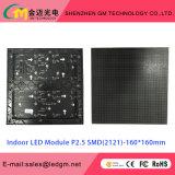 Módulo interno do diodo emissor de luz do preço de grosso P2.5, 160*160mm, USD16.8
